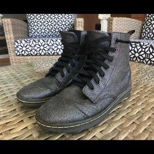 Dr Martens Black Sparkly - Shimmer Boot - Shoe